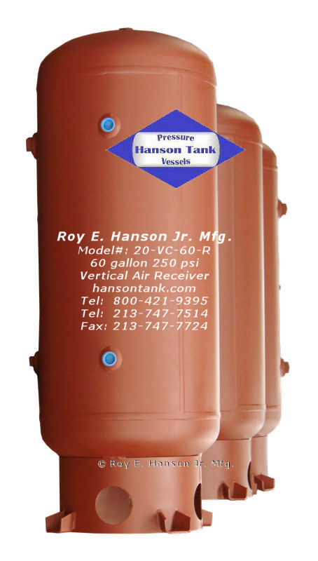 Hanson Pressure Vessel Pricelists