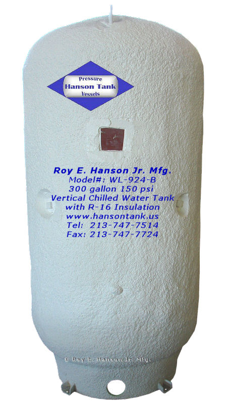 Vertical Chilled Water Buffer Tanks - Hanson Tank Asme Code