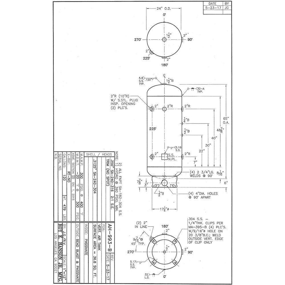 Asme pressure vessels asme stainless steel air tank ah 993 b hanson tank asme pressure vessels