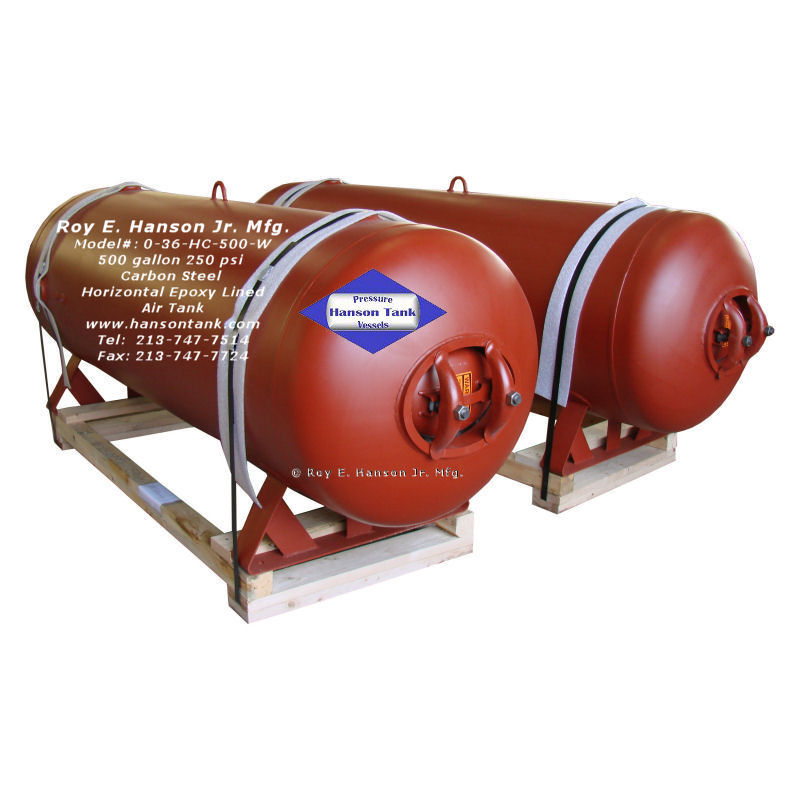 0-36-HC-500-W carbon steel air tank
