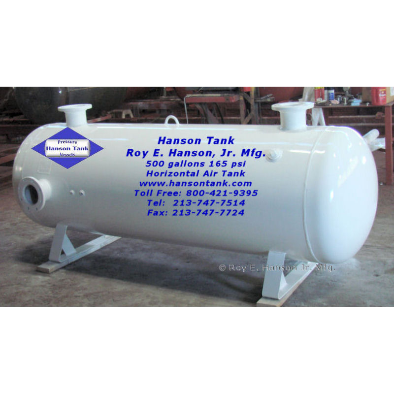 500 gallon horizontal air tank AH-654-B