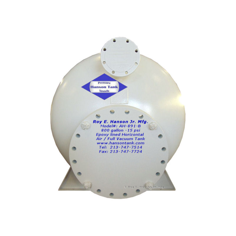 AH-891-B carbon steel full vacuum tank