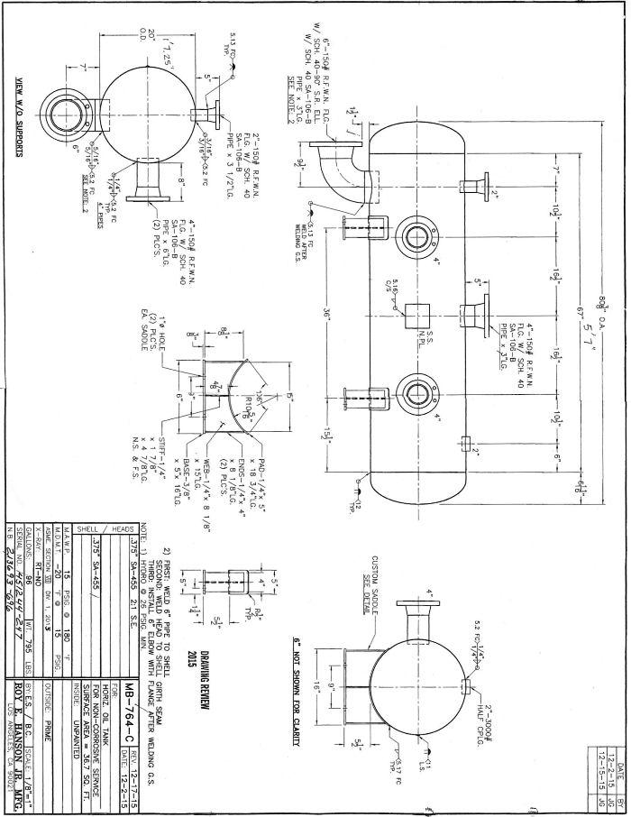 Asme Pressure Vessels Asme Oil Tank Pressure Tanks Mb764c
