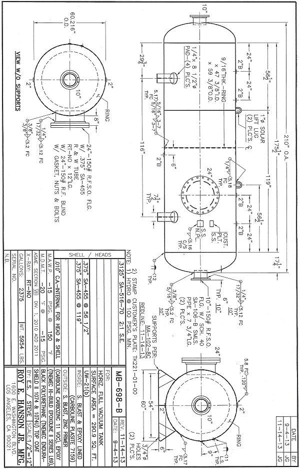 Asme Pressure Vessels Asme Vacuum Tank 15 Psi Full