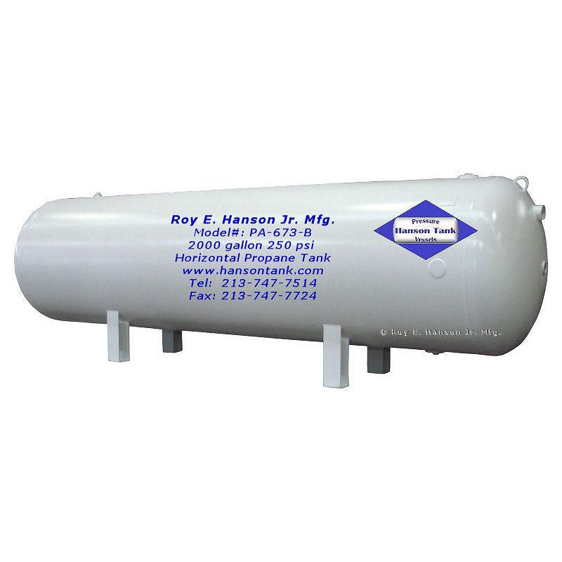 PA-673-B 2000 gallon propane tank