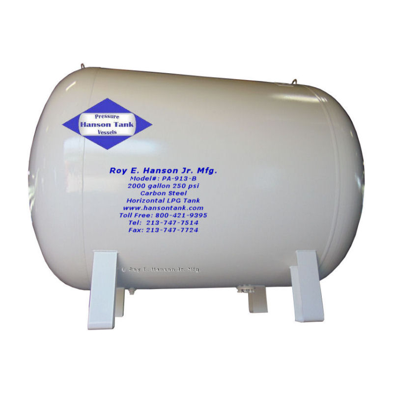 PA-913-B 2000 gallon propane tank