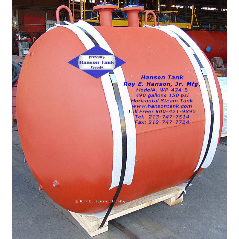 WP-424-B horizontal steam tanks