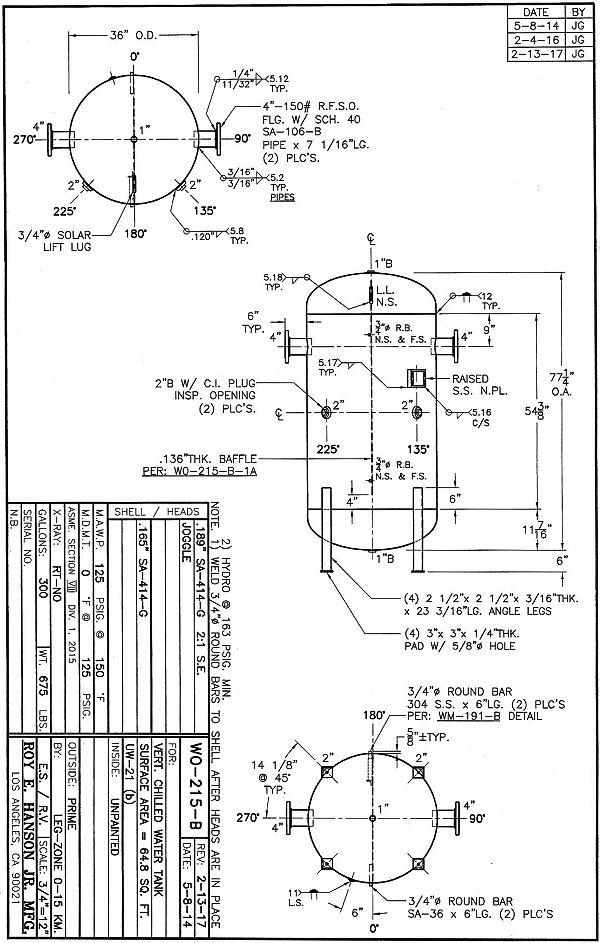 Asme Pressure Vessels Custom Asme Vertical Unlined