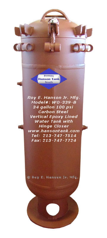 Asme Pressure Vessels Custom Asme Vertical Epoxy Lined