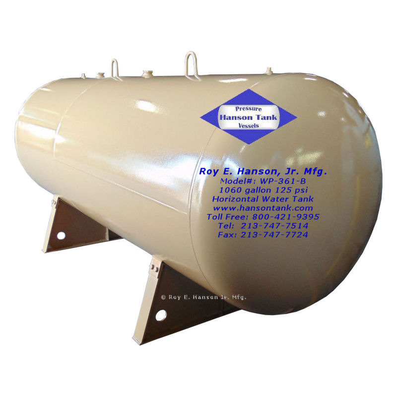 WP361B-horizontal hot watertanks