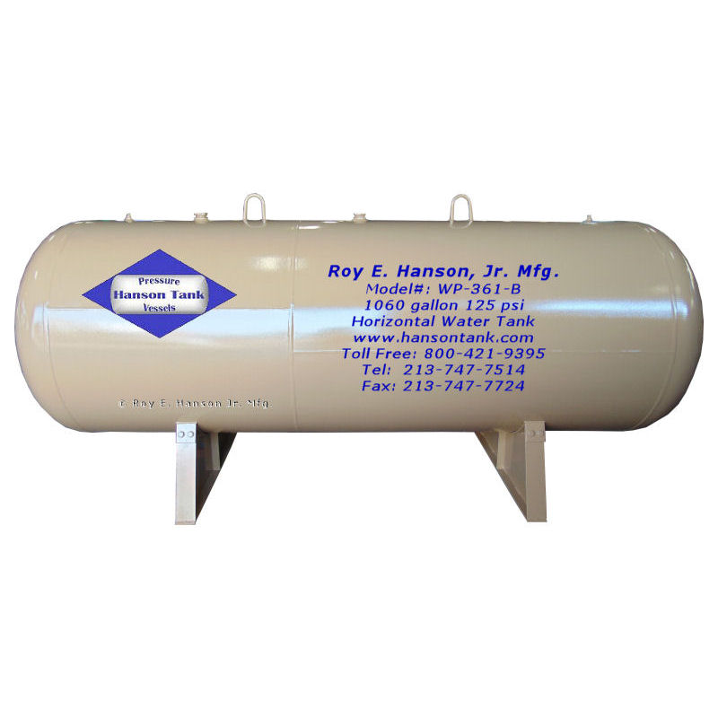 WP-361-B 1060 gallon hot water tank