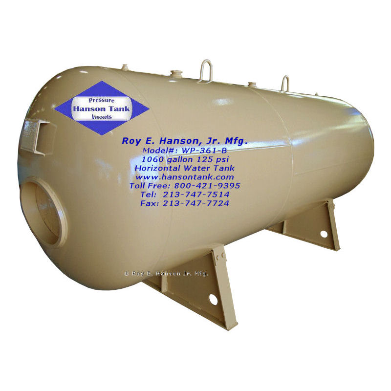WP361B 1060 gallon hot water tank