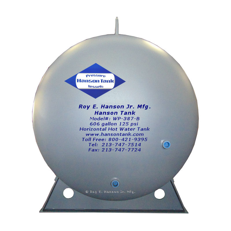 WP-387-B horizontal hot water tanks