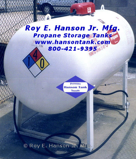 Hanson Tank manufactures the following types of LPG tanks: