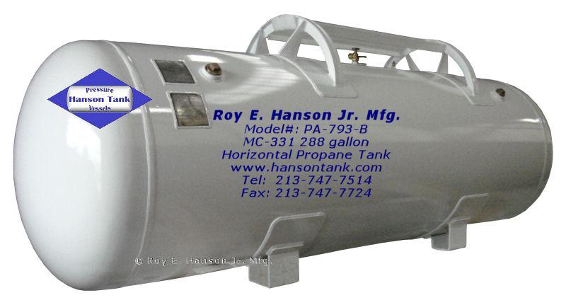 Hanson Pressure Vessel Pricelists