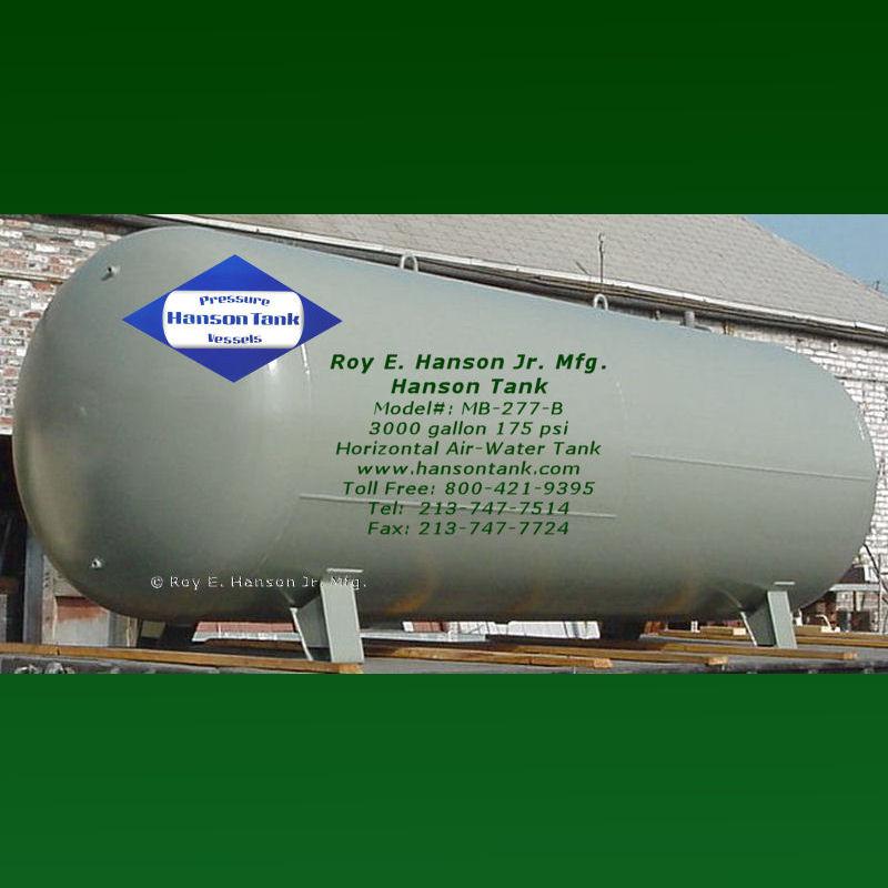 MB-277B hydro-pneumatic tanks