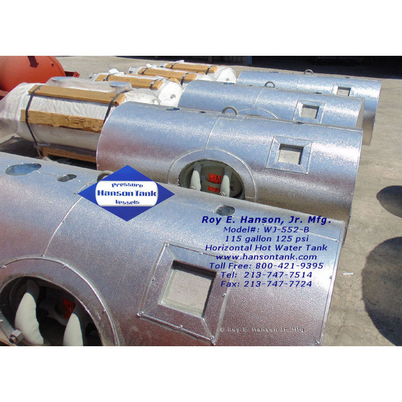 WJ-552-B Aluminum jacketed hot water tank