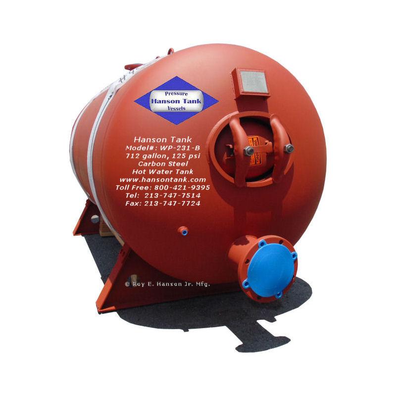 WP231B-horizontal hot watertanks