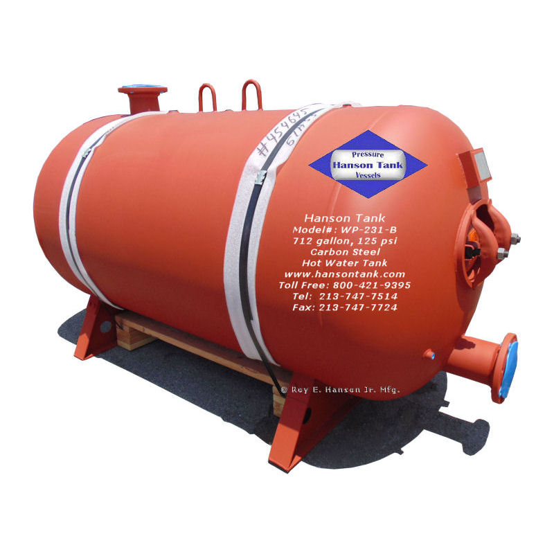 WP-231-B 700 gallon glass lined tank