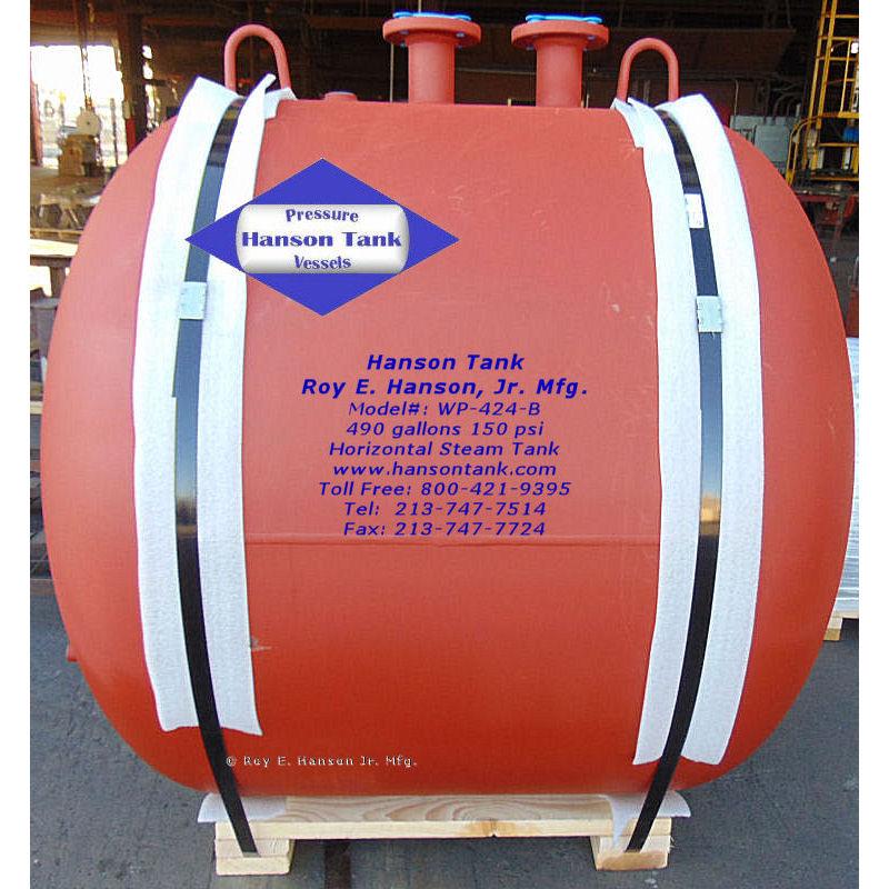 WP-424-B 490 gallon steam tank