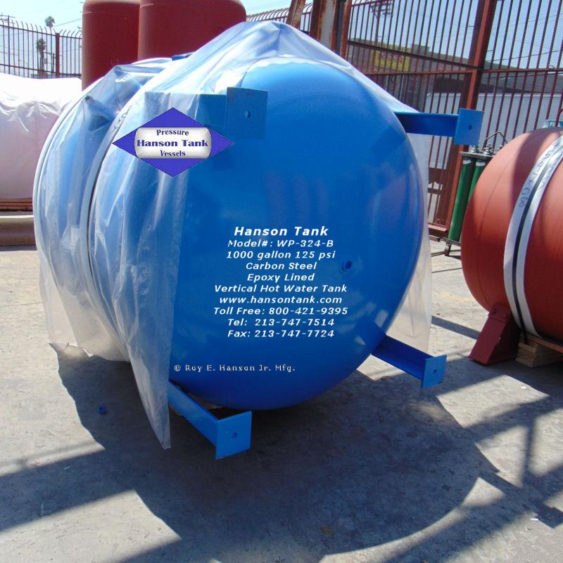 WP-324-B 1000 gallon hot water tank