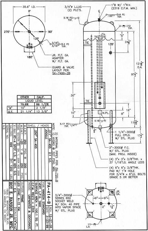 Pa414b Hanson Tank Asme Code Pressure Vessel Mfg