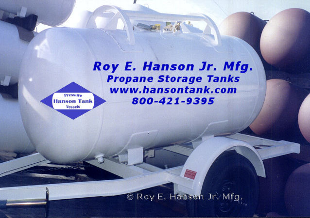 Propane Tanks - Hanson Tank Asme Code Pressure Vessel Mfg
