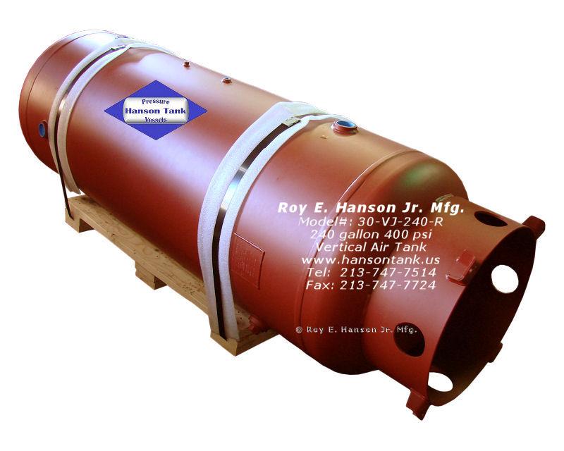 30-VJ-240-R 400 psig vertical air receiver