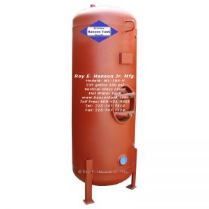 wl-106-b 235 gallon glass lined hot water tank