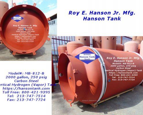 mb812b 2000 gallon hydrogen tank
