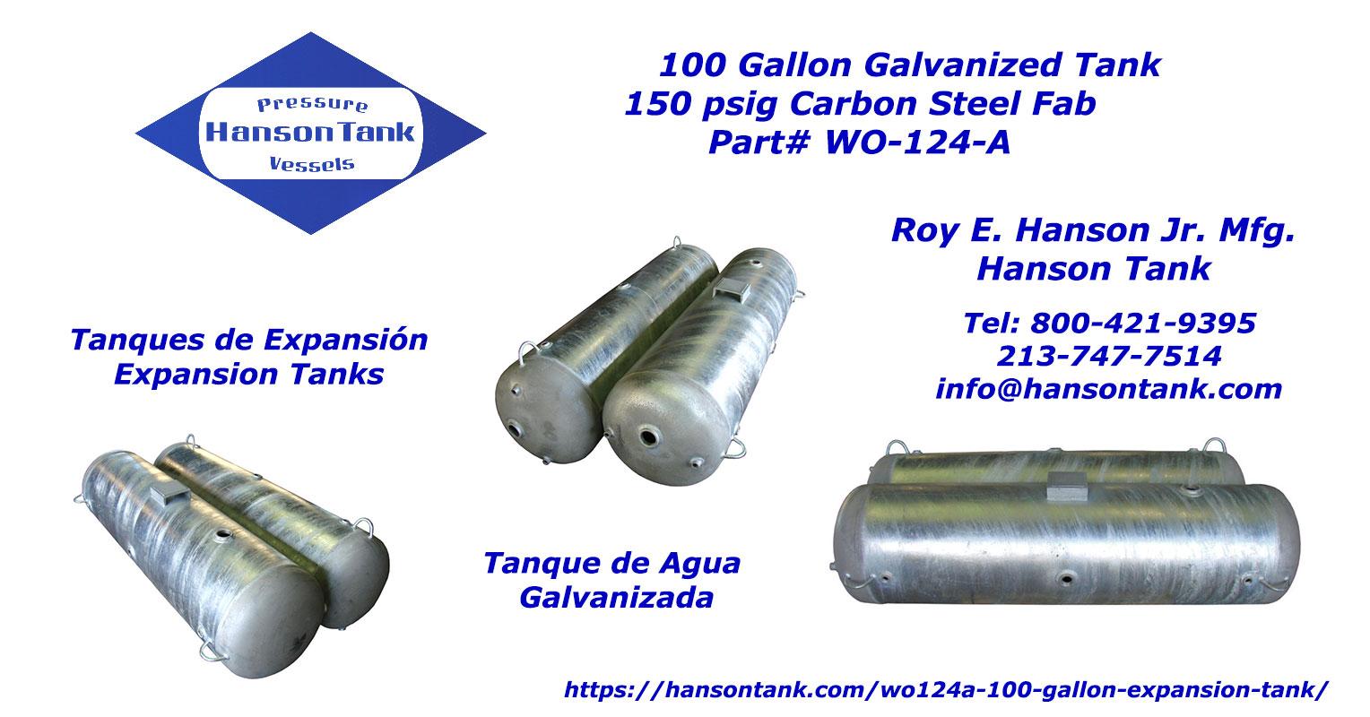 WO-124-A galvanized water tanks