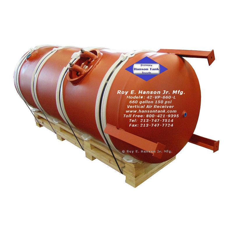 660 gallon air receiver tanks