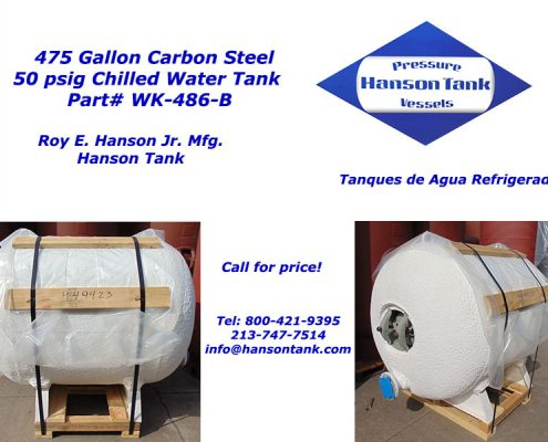 475 gallon insulated chilled water tank wk486b