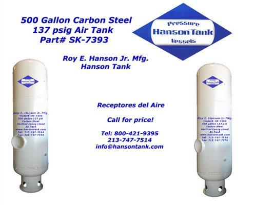 500 gallon air receiver tank sk-7393