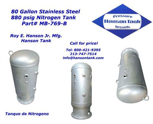mb769b Nitrogen Tank