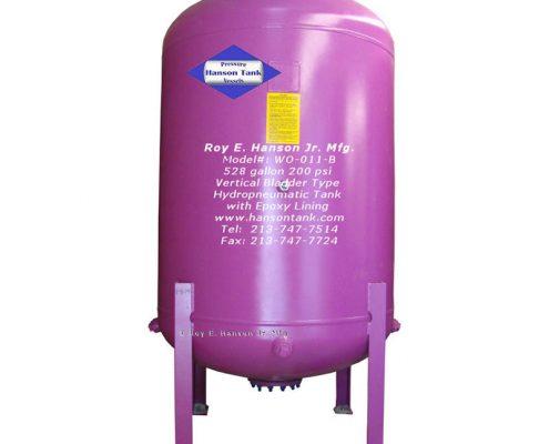 wo011b hydropneumatic tank