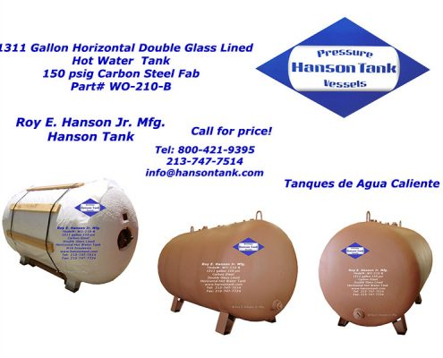 wo210b double glass lined hot water tank