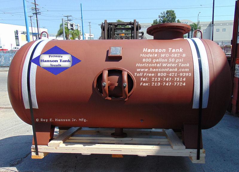 WO-682-B horizontal water tank