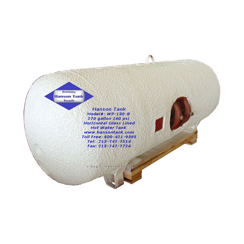 WP-130-B glass lined hot water tank