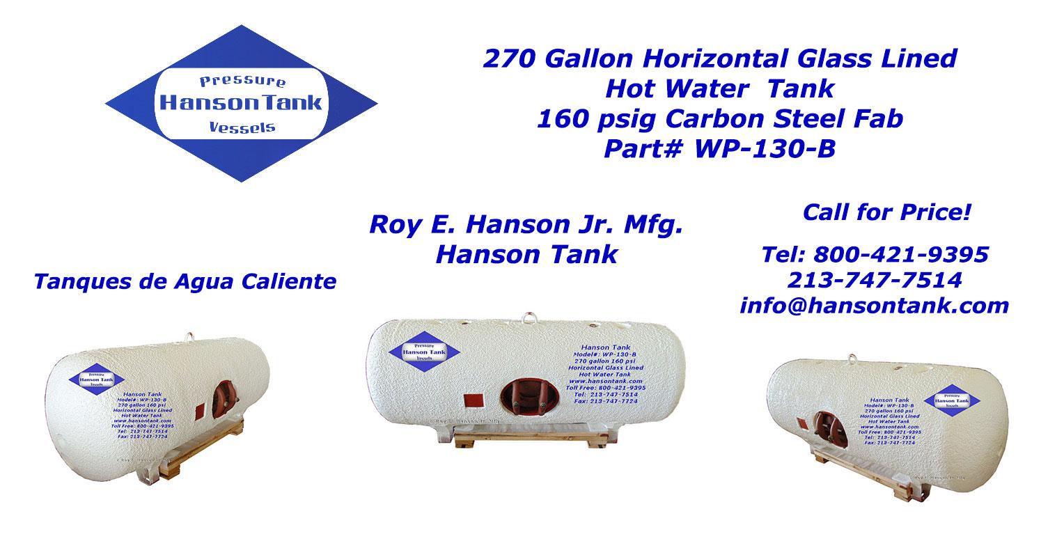 WP-130-B 270 gallon hot water tank