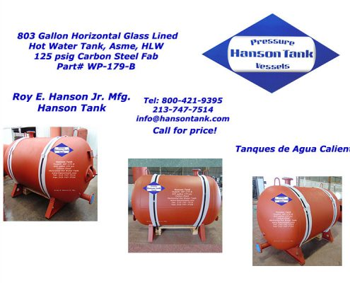 wp-179-b 800 gallon hot water tank