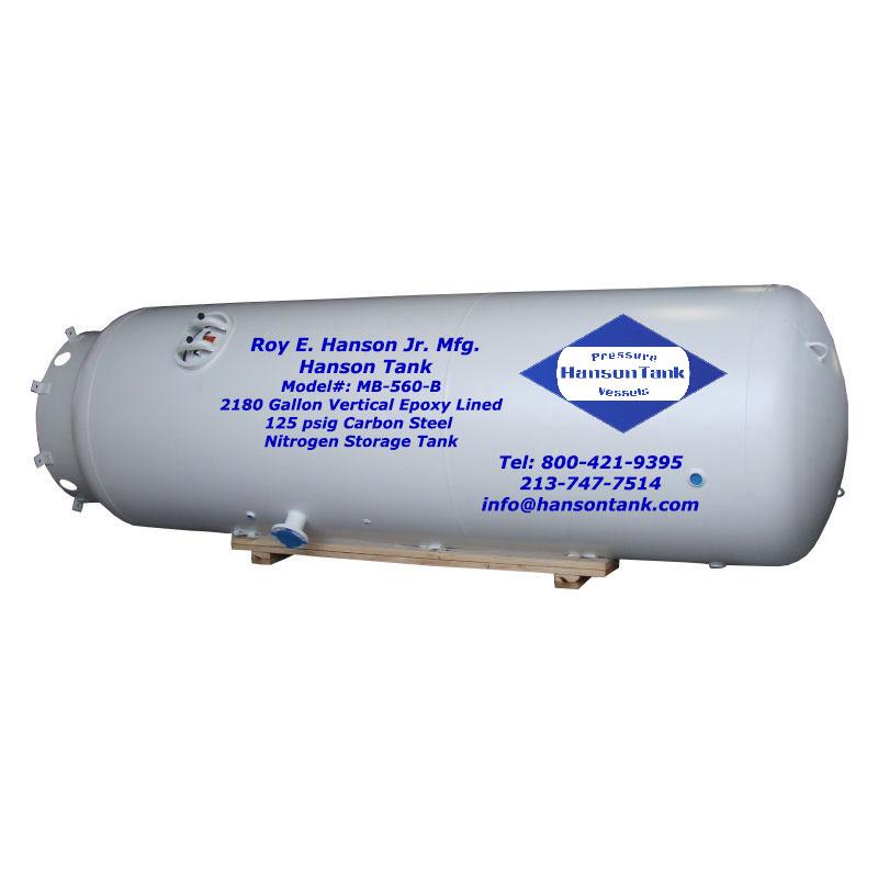MB-560-B Asme Nitrogen Storage Tank