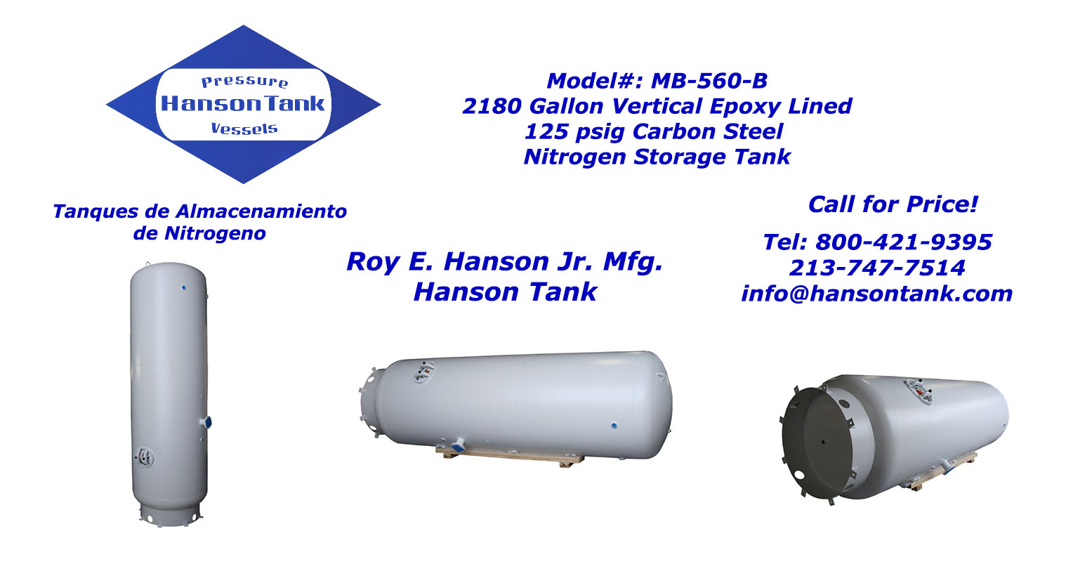 MB-560-B Nitrogen storage tank