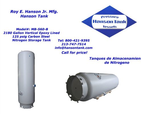 2000 gallon nitrogen storage tank mb-560-b