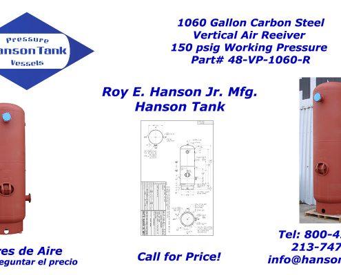 48-VP-1060-R 1060 Gallon Air Receiver