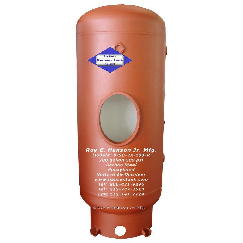 0-30-VA-200-R 200 gallon epoxy lined tank