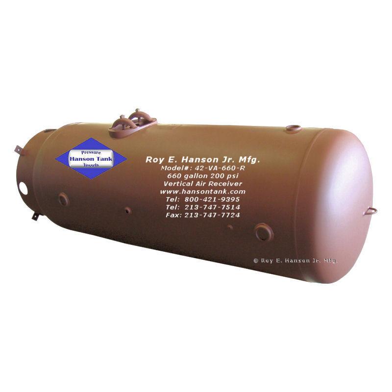 42-VA-660-R vertical 660 gallon air tank