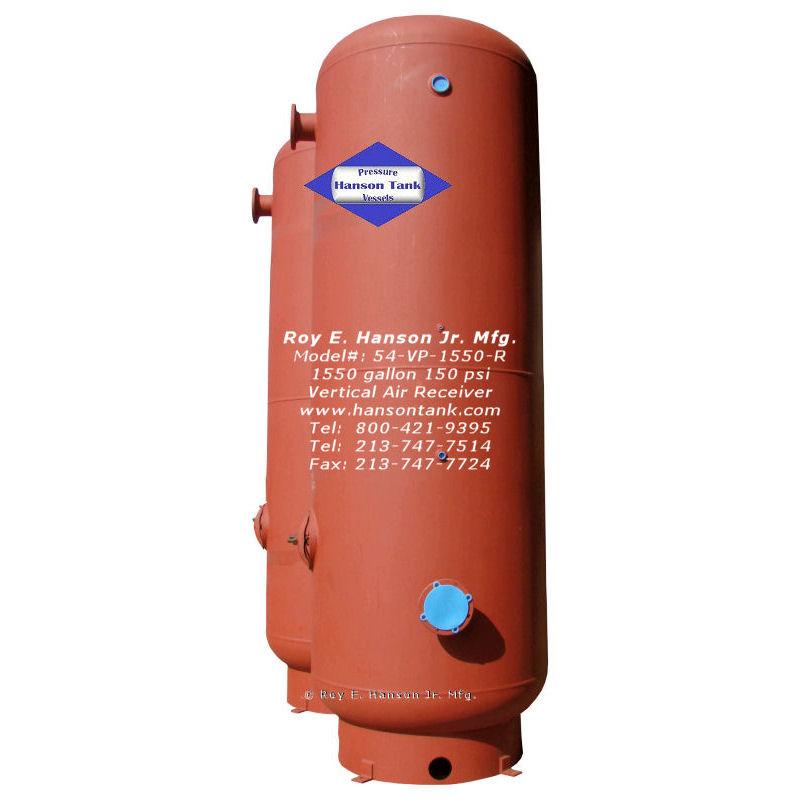 54-VP-1550-R 1550 gallon air storage tank