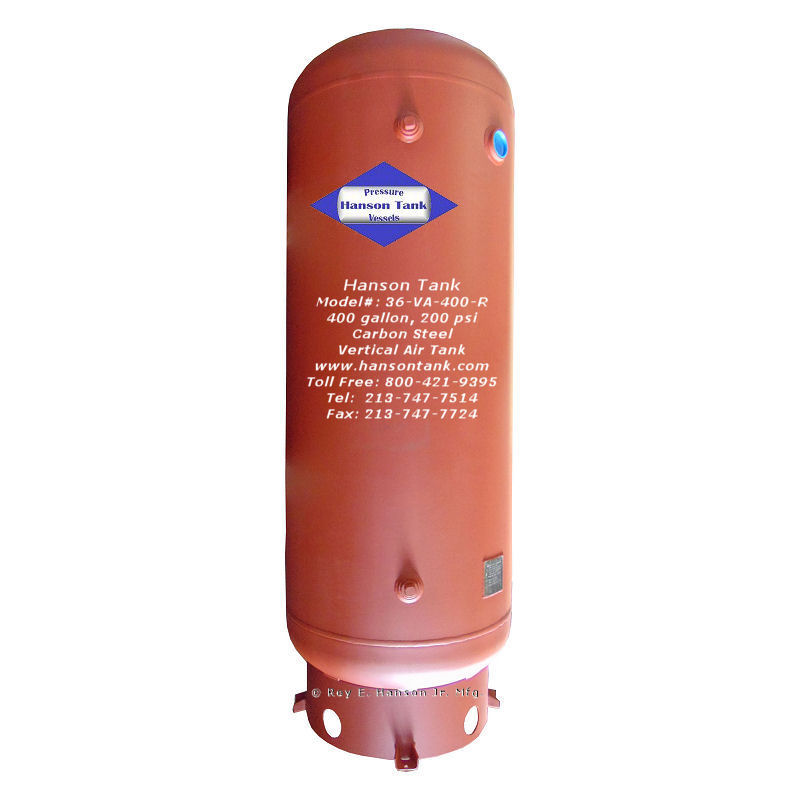 36-VA-400-R 400 gallon vertocal air storage tank