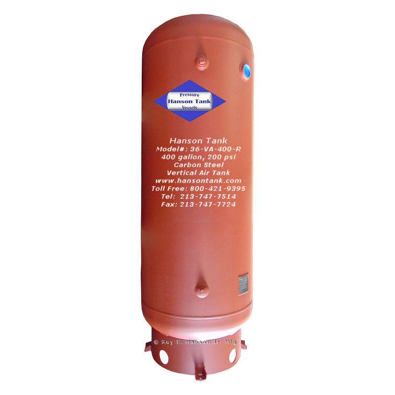 36-VA-400-R 400 gallon vertocal air storage tank